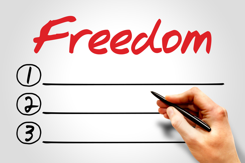 Freedom blank list, business concept
